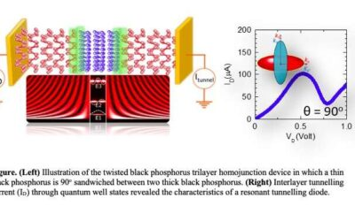 Researchers realize resonant tunnelling diodes based on twisted black phosphorus homostructures