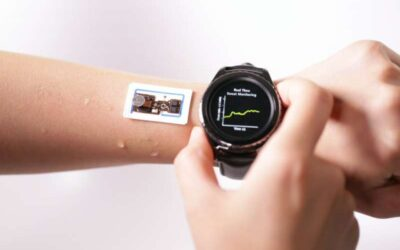 An on-skin device to measure sweat—rate, loss and temperature—in real-time