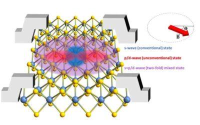 Researchers observe two-fold symmetric superconductivity in 2D niobium diselenide